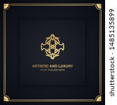 artistic and luxury logo. can... | Shutterstock .eps vector #1485135899