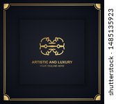 artistic and luxury logo. can... | Shutterstock .eps vector #1485135923