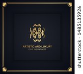 artistic and luxury logo. can... | Shutterstock .eps vector #1485135926