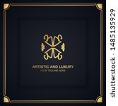 artistic and luxury logo. can... | Shutterstock .eps vector #1485135929