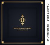 artistic and luxury logo. can... | Shutterstock .eps vector #1485135950