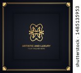 artistic and luxury logo. can... | Shutterstock .eps vector #1485135953