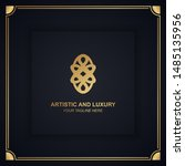 artistic and luxury logo. can... | Shutterstock .eps vector #1485135956