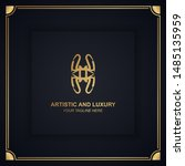 artistic and luxury logo. can... | Shutterstock .eps vector #1485135959