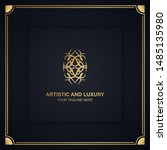 artistic and luxury logo. can... | Shutterstock .eps vector #1485135980