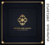 artistic and luxury logo. can... | Shutterstock .eps vector #1485136913