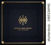 artistic and luxury logo. can... | Shutterstock .eps vector #1485136940