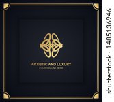 artistic and luxury logo. can... | Shutterstock .eps vector #1485136946