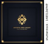 artistic and luxury logo. can... | Shutterstock .eps vector #1485136949