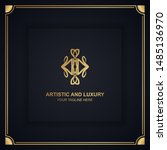 artistic and luxury logo. can... | Shutterstock .eps vector #1485136970