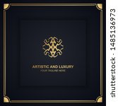 artistic and luxury logo. can... | Shutterstock .eps vector #1485136973