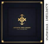 artistic and luxury logo. can... | Shutterstock .eps vector #1485136979