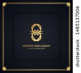 artistic and luxury logo. can... | Shutterstock .eps vector #1485137006