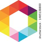 hexagon colorful graphic for... | Shutterstock .eps vector #1485138800