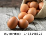 Close Up View Of Raw Eggs In...