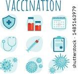medical prescription. vaccine... | Shutterstock .eps vector #1485163979