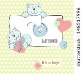 baby shower invitation with... | Shutterstock .eps vector #148517996