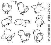 vector set of bird cartoon | Shutterstock .eps vector #1485224720