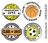 school team and graduation...   Shutterstock .eps vector #148526633