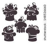 vector silhouettes of cartoon... | Shutterstock .eps vector #148526660