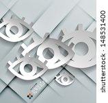vector paper eyes modern design | Shutterstock .eps vector #148531400