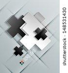 vector paper crosses modern... | Shutterstock .eps vector #148531430