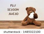 Flu  Teddy Bear With A Tissue...