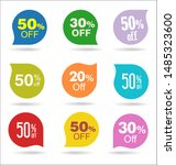 modern colorful sale stickers... | Shutterstock . vector #1485323600