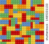 lego colorfull game with bricks ... | Shutterstock .eps vector #1485331133