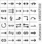 arrows icon set. vector... | Shutterstock .eps vector #1485337310