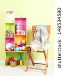 colorful shelves of different... | Shutterstock . vector #148534580