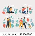 vector cartoon illustration of... | Shutterstock .eps vector #1485346763