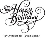 happy birthday | Shutterstock .eps vector #148535564