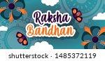 happy raksha bandhan poster...   Shutterstock .eps vector #1485372119