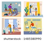 time together concept. people...   Shutterstock .eps vector #1485380990