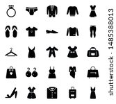 fashion clothing glyph icons... | Shutterstock .eps vector #1485388013