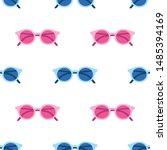 sunglasses pattern on pink... | Shutterstock .eps vector #1485394169
