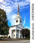 New England White Wooden Churc...