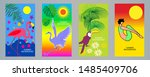 tropical relaxation and nature. ... | Shutterstock .eps vector #1485409706