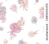 floral seamless pattern with...   Shutterstock .eps vector #1485424193
