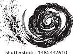 whirlpool. maelstrom. wave...   Shutterstock .eps vector #1485442610