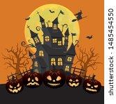 halloween image vector... | Shutterstock .eps vector #1485454550