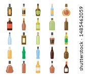 the collection of alcohol... | Shutterstock .eps vector #1485462059