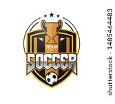 soccer football badge black... | Shutterstock .eps vector #1485464483