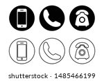 phone icon vector. set of flat... | Shutterstock .eps vector #1485466199