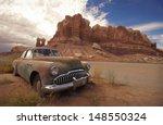 Desert Relic Old Car Rusting...