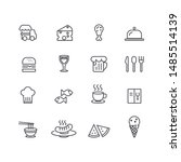 cook and chef icons set vector | Shutterstock .eps vector #1485514139