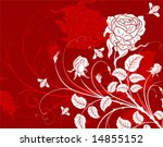 Flower Background With Rose An...