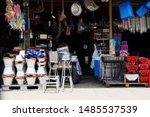miscellaneous street shop....   Shutterstock . vector #1485537539