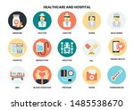 hospital icons set for business ... | Shutterstock .eps vector #1485538670
